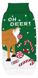 New York Dog Ugly Holiday Sweater: Oh Deer!/Medium