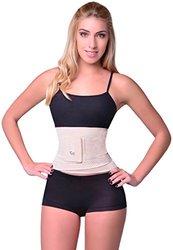 Sbelt's Miss Waist Trainer Body Shaper - Beige - Size: Large / X-Large