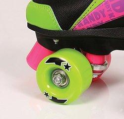 Kandy Skates Delish - Black Lime Green & Pink Roller Skates - Size 1