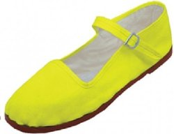 Women's Mary Jane Shoes Ballerina Ballet Flats - Yellow - Size: 7