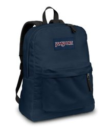 Jansport Backpack All Color Black Navy Grey Blue Purple Pink Green Red BAG-COLOR: Navy