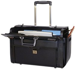 """Bond Street Rolling Computer/Carrying Case for 17"""" Notebook 456110BLK"""
