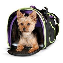 K&H Comfy Go Carrier Pet Storage Bag -Purple/Black/Green - Size: Medium