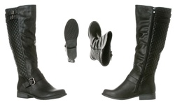 Riverberry Women's Olivia Knee-High Riding Boots - Black - Size: 8