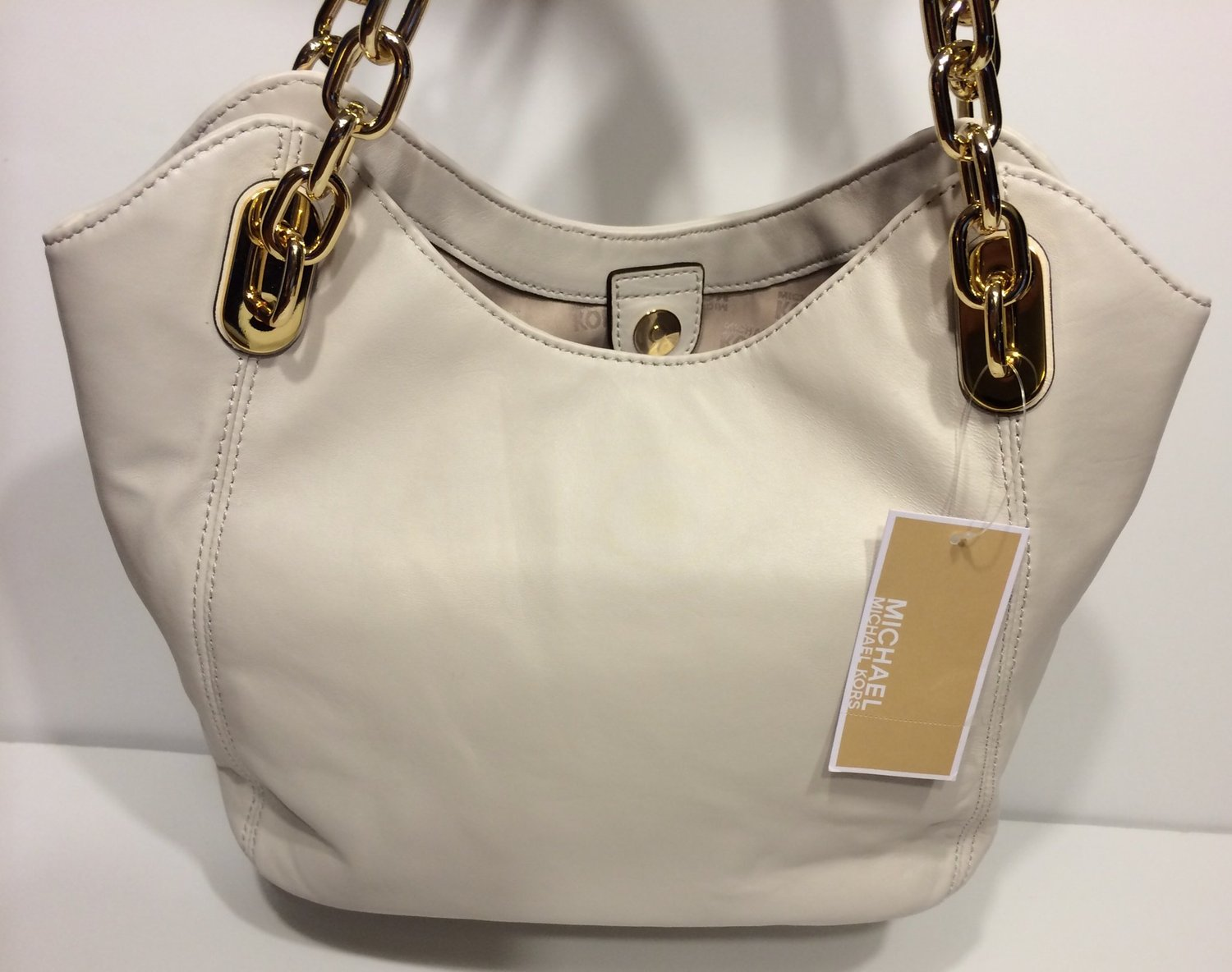 1f1130f05c7f ... order michael kors womens ultra soft leather lilly md tote vanilla  4204a 63915 ...