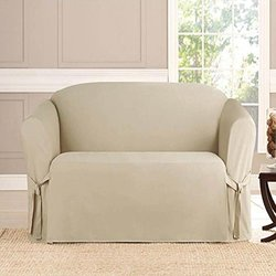 Microsuede Furniture Slipcover Loveseat 70 x 120- Taupe