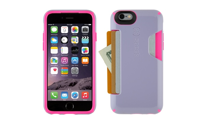 buy online f3944 f4af2 Speck CandyShell Card Case for iPhone 6/6s - Purple/Pink