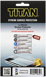 TITAN Anti-Breakage Anti-Scratch Screen Protector for Samsung Galaxy S4 - Frustration-Free Packaging - Clear