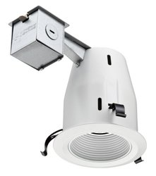 4 in. GU10 White Recessed Baffle Kit