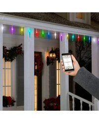 Lightshow AppLights 24-LED Light Multi-Color Icicle String Light (37206)