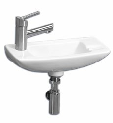Whitehaus Collection Isabella Wall-Mounted Bathroom Sink - White