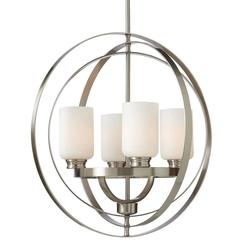 Home Decorators Collection 7900HDC 4-Light Chandelier - Brushed Nickel
