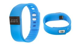 Z Activity Fitness Tracker Watch with Call & Message Reminder - Blue