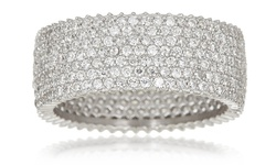 Sterling Silver 7-Row Micro-Pave Milgraine Eternity Band - Size: 8