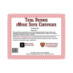 Clearview Total Defense Premium & eMusic Suite Certificate