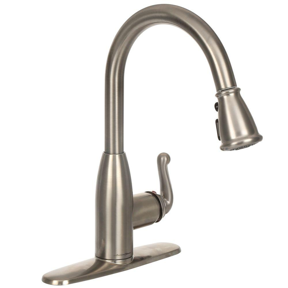 Bon ... Symphony Single Handle Pull Down Sprayer Kitchen Faucet   Stainless  Steel ...