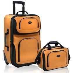 U.S. Traveler Rio 2-Piece Carry-On Luggage Set - Mustard