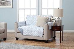 Geometric Printed Reversible Furniture Protector - Love Seat - Slate Blue