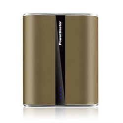 12000 mAh Rechargeable Power Bank: Brown