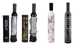 Etel USA Fancy Purse Wine Bottle Umbrella - Black and Gold