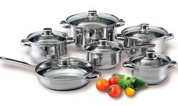 Diamond Home 12 Piece Stainless Steel Cookware Set