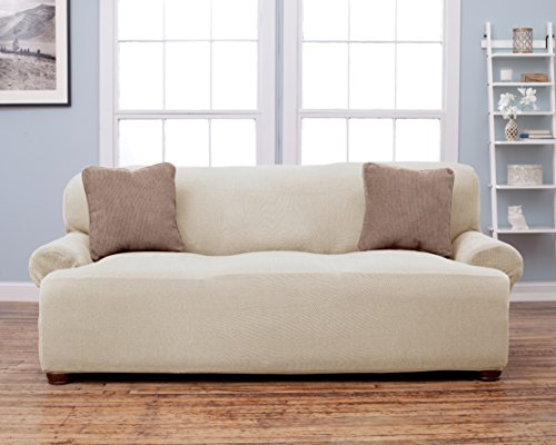 ... Home Fashion Savannah Collection Fit Slip Cover   Ivory ...