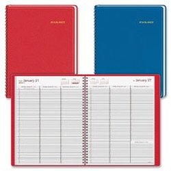 At-A-Glance,Appointment Books,Dated Goods,Weekly Fashion Professional,Fashionable Color Appointment Book,Wirebound,Quarter-hourly,2PPW