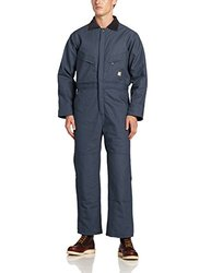 Berne Apparel Men's Deluxe INS Quilt Lined Coverall - Navy - Size: XL