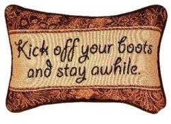 """Manual 12.5x8.5"""" """"Kick Off Your Boots""""Decorative Throw Pillow"""