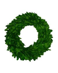 "Mills Floral MIF-001 Boxwood Round Single Side 16"" Wreath"