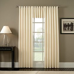 "Ellis Curtain 48"" x 63"" Pinch Pleated Foamback Curtains - Bordeaux"