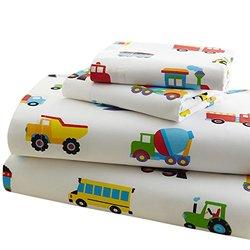 Olive Kids Trains Planes & Trucks Sheets - Blue
