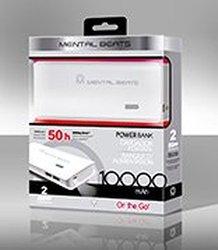 Mental Beats 10,000 Mah Power Bank - 2 Usb 2.1 Amp With LED