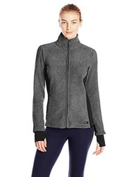 Marc New York Women's Polar Fleece Jacket - Charcoal/Black - Size: X-Large