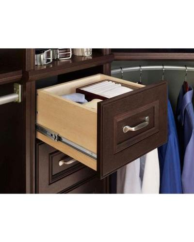 Beau Chocolate Narrow Drawer Kit ClosetMaid Impressions 16 In. Chocolate Narrow Drawer  Kit ...
