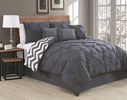 Avondale Manor Ella 7-Piece Comforter Set - Charcoal - Size: King