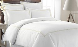 Italian Hotel Collection 600TC Duvet Set - Warm Sand - Size: King