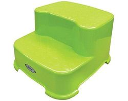Graco Baby Transitions Two Tier Step Stool Green Check