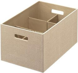 Rubbermaid Bento Storage Box with Flex Dividers - Loose Linen - Size: XL
