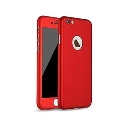 Waloo Slim Fit 360 Case for iPhone 6/6S with Tempered Glass - Red