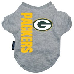 Hunter Green Bay Packers Dog Tee Shirt Gray - Medium