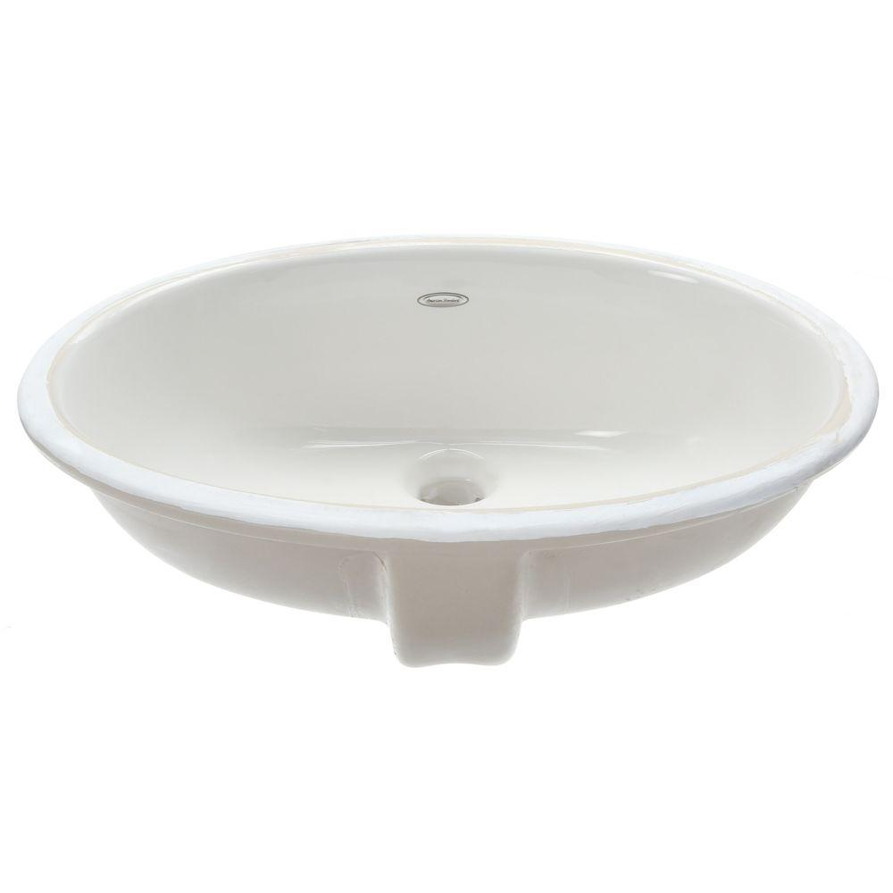 American Standard Ovalyn Undermount Bathroom Sink White Check - American standard undermount bathroom sinks