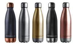 Central Park Travel Bottle: Black/copper