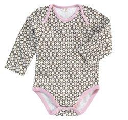 Dwellstudio Infant Girl's Organic Bodysuit - Starburst Chocolate - 3-6mo