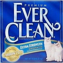 Ever Clean Unscented Extra Strength Premium Clumping Cat Litter - 25 Lbs