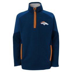 "Denver Broncos Youth NFL ""Evasive"" 1/4 Zip Fleece Sweatshirt - Large"