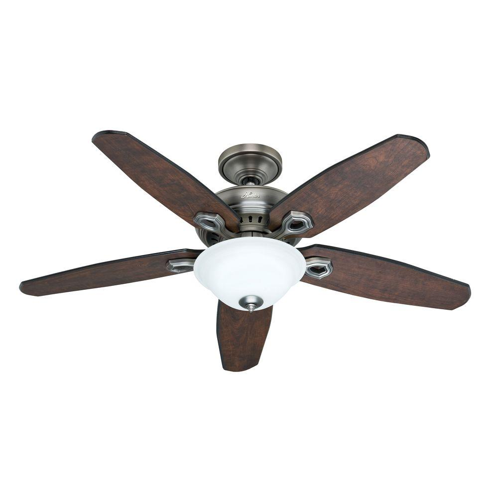 hunter fairhaven 52 in antique pewter ceiling fan w remote control