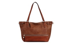 MKF Collection Martina Anatomically Designed Tote Bag - Brown