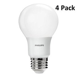 Philips 461137 60w Equivalent Daylight A19 LED Light Bulb (4-pack)