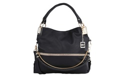 MKF Collection Everyday Tote with Chain-and-Leather Shoulder Strap - Black